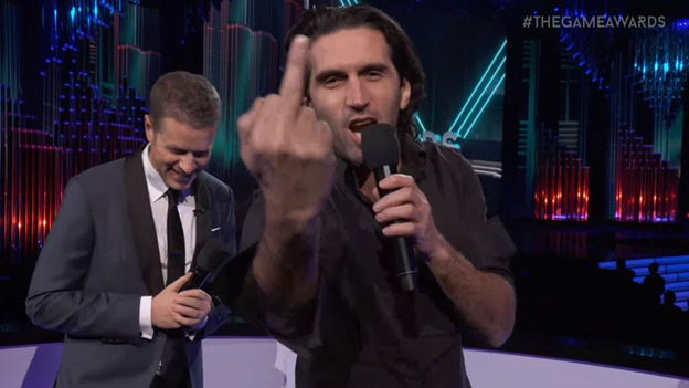 The Game Awards middle finger