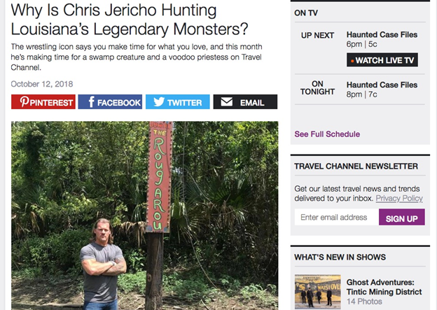 Travel Channel Jericho