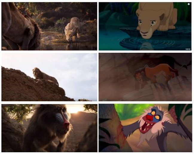 The Lion King comparison