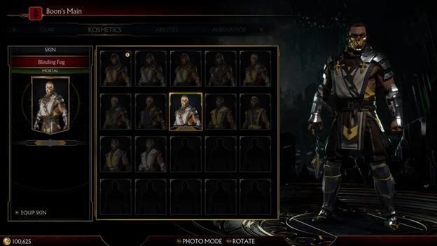 Mortal Kombat closet