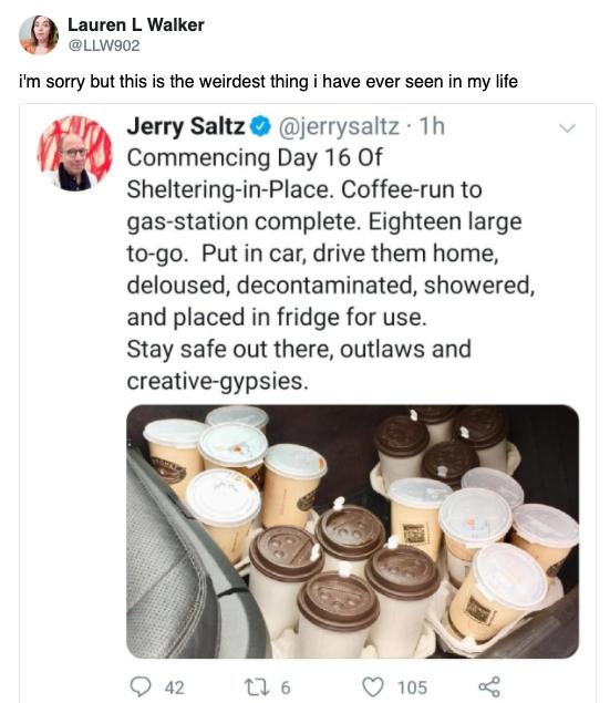 Jerry Saltz coffee