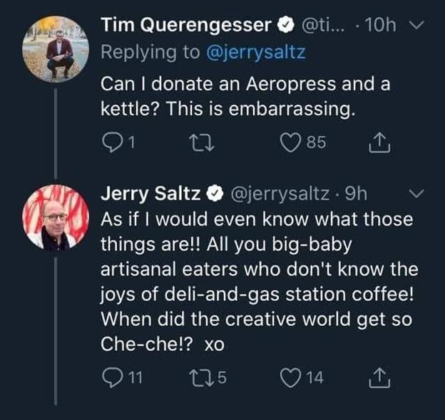 Jerry Saltz che che